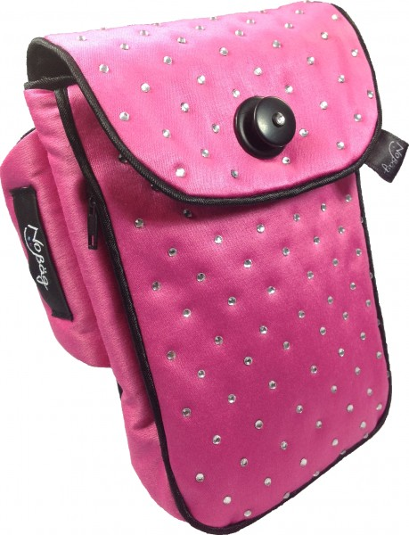 "No Bäg arm bag ""Pink with rhinestone application"""