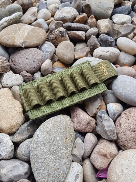 No Bäg Patch with 6 elastic loops Olivegreen with logo