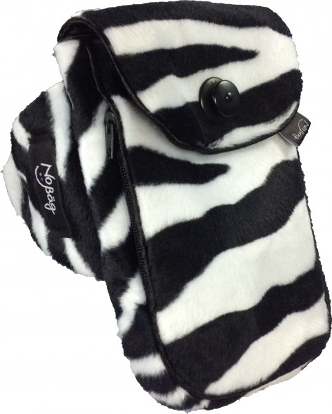 "No Bäg arm bag ""Zebra pattern fake fur"""
