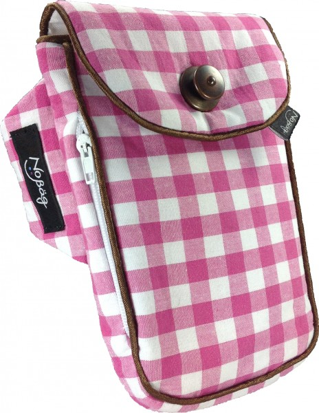 "No Bäg arm bag ""Pink and white checkered"""