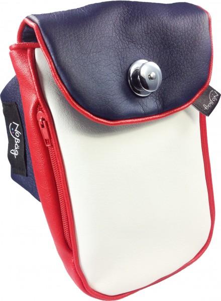 "No Bäg arm bag ""PU Artificial leather white blue red"""