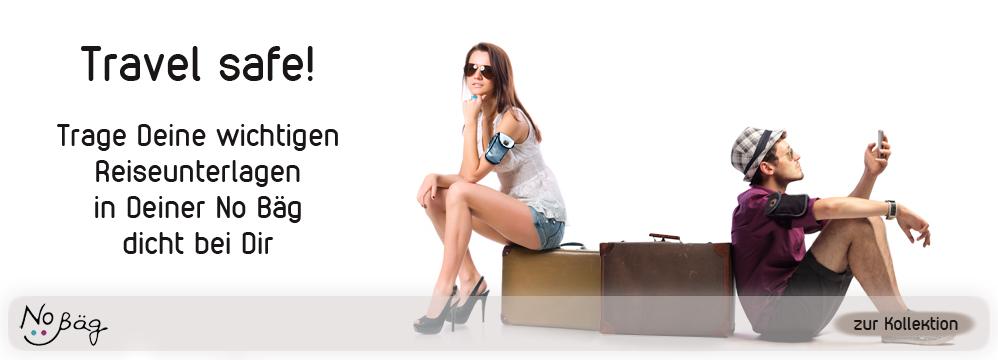 No Bäg auf Reisen Armtasche No Bag Oberarmtasche