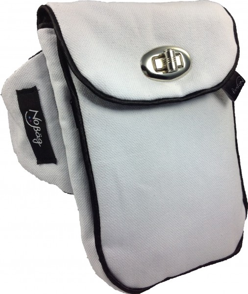 "No Bäg arm bag ""Canvas White with Twist Lock"""
