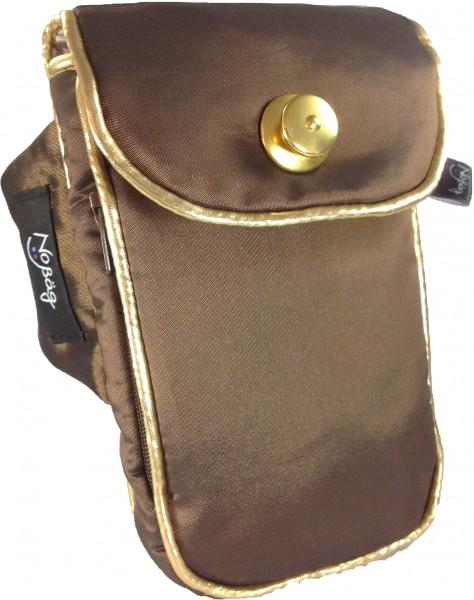 """No Bäg Armtasche """"Brauner changierender Designer Stoff (wasserabweisend) aus Italien"""""""