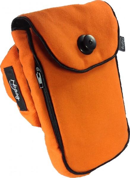 "No Bäg arm bag ""Canvas Orange with Black piping stripe"""