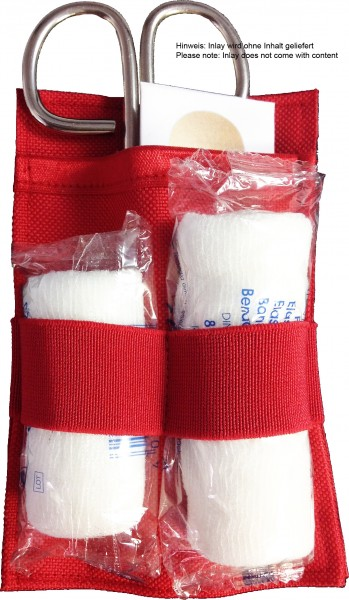 No Bäg Inlay EDC First Aid red