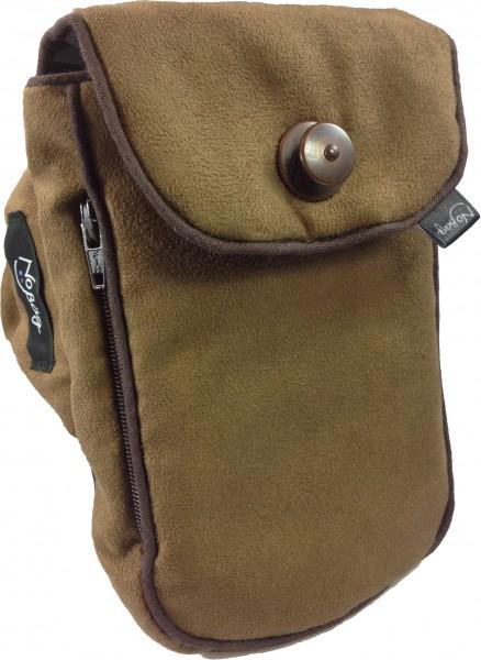 """No Bäg arm bag """"brown cotton piping"""""""